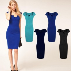 2014-New-Fashion-Square-Neck-party-Rockabilly-Bodycon-Business-Pencil-Dress-Vintage-Dress-Women-Dress-5