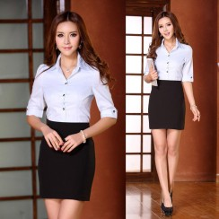 New-2014-Spring-Summer-Formal-Ladies-Skirt-Suits-for-Women-Sets-Elegant-Skirt-and-Blouse-Set