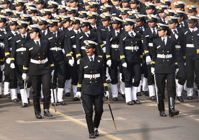 Rehearsal for the Republic Day parade