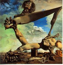 Painting by Salvador Dali - Soft Construction with Boiled Beans