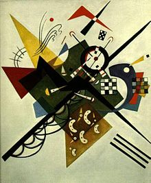Painting by Wassily Kandinsky, On White 2