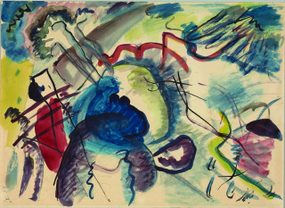 Painting by Wassily Kandinsky, Improvisation 27 (Garden of Love II)