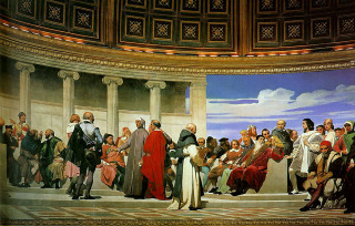 Painting by Paul Delaroche, The Hemicycle.