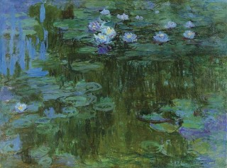 Painting by Claude Monet, Water Lilies