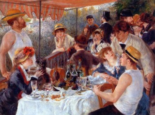 Painting by Pierre-Auguste Renoir, Luncheon of the Boating Party.