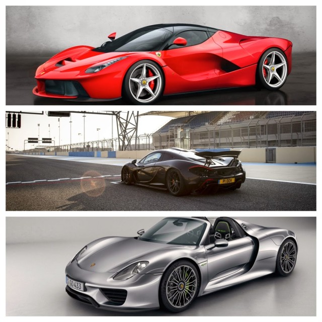 hybrid hypercar showdown laferrari vs mclaren p1 vs porsche 918 spyder ed. Black Bedroom Furniture Sets. Home Design Ideas