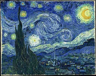 Painting by Vincent Van Gogh, Starry Night.