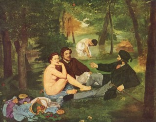 Painting by Edouard Manet, the Luncheon on the Grass.