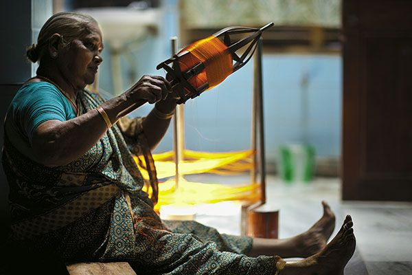 Won't you like to buy your Kanchipuram made on custom order from her? Image Source: Forbes