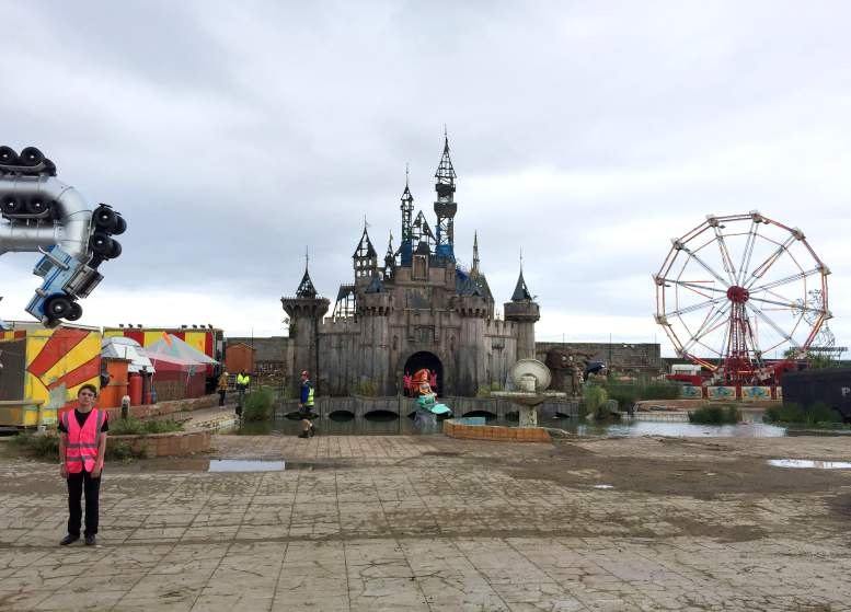 Image #: 38870131    A general view of Dismaland, a collection of satirical art and sculpture by the graffiti artist Banksy, which is to go on show in Weston-super-Mare, Somerset.       PA PHOTOS /LANDOV
