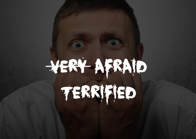 very afraid=terrified