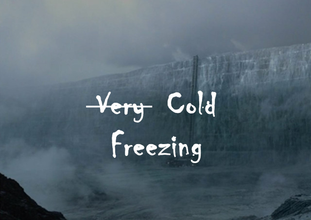 very cold=freezing