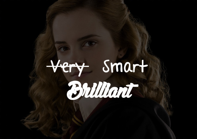 very smart=brilliant