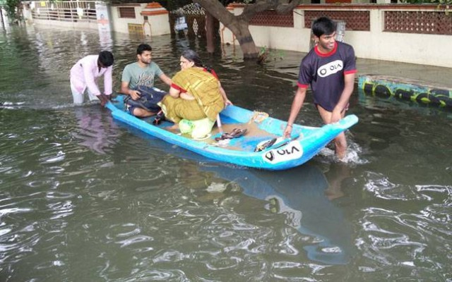 Ola Boats in Chennai Floods