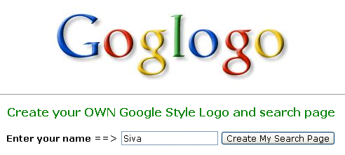 Goglogo - Create your OWN Google Search Page - Google Logo Maker - Google Logo Creator