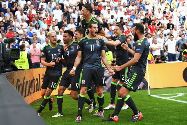 Gareth Bale mobbed by his teammates as their talisman makes his mark