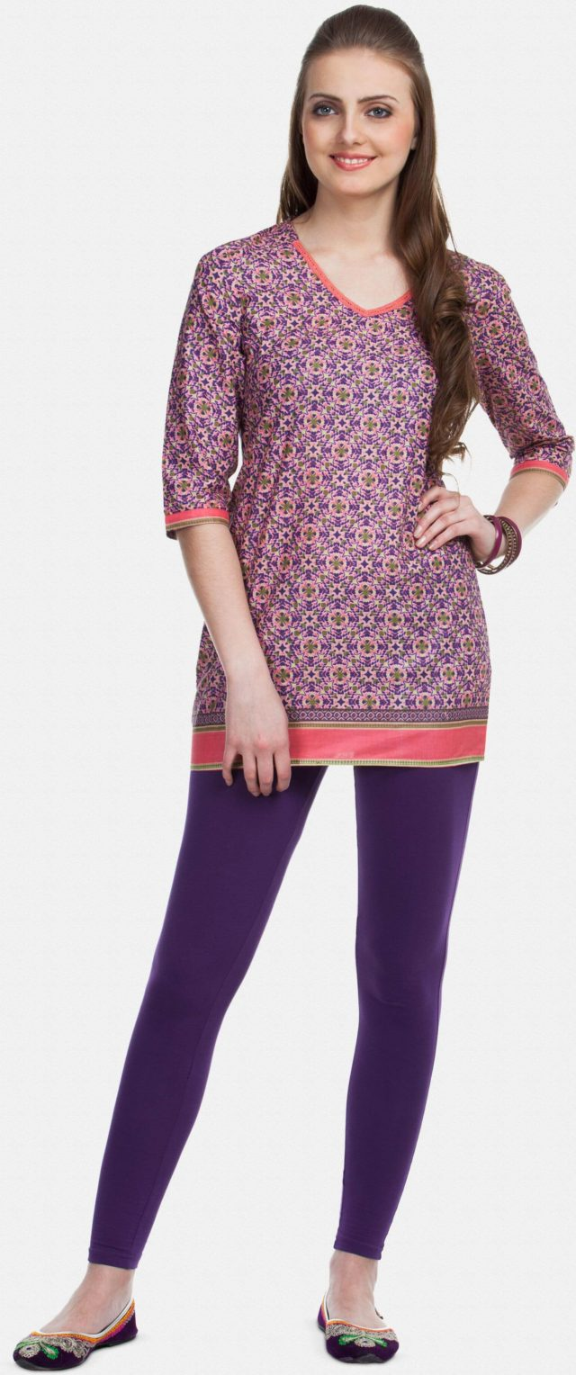 powder-pink-multicoloured-printed-short-kurti-original