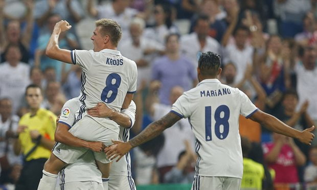 Toni Kroos scored his 1st La Liga goal this season to help Real Madrid win the game.