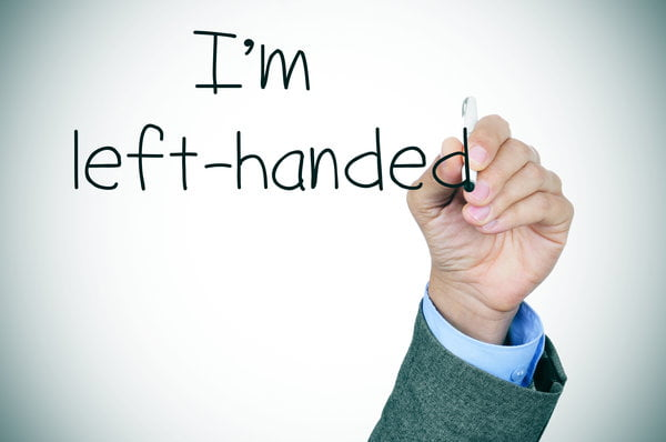 "left-handed writing ""I am left-handed"""