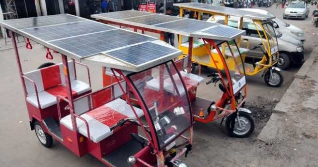 Solar-Powered-Electric-Rickshaw
