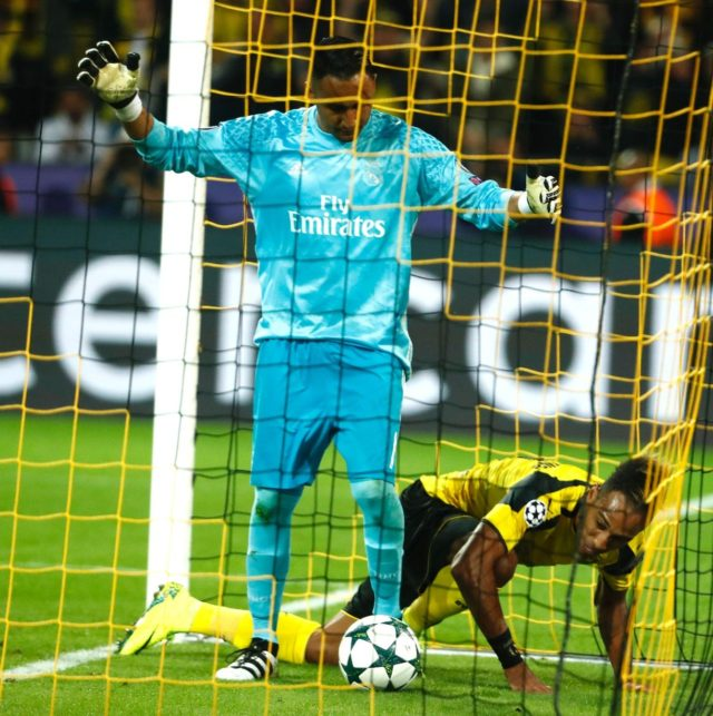 Real Madrid were brought to 1 - 1 after Aubameyang scored for Dortmund.