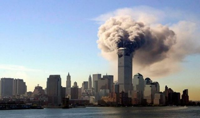 Skyline during the 9/11 Attacks