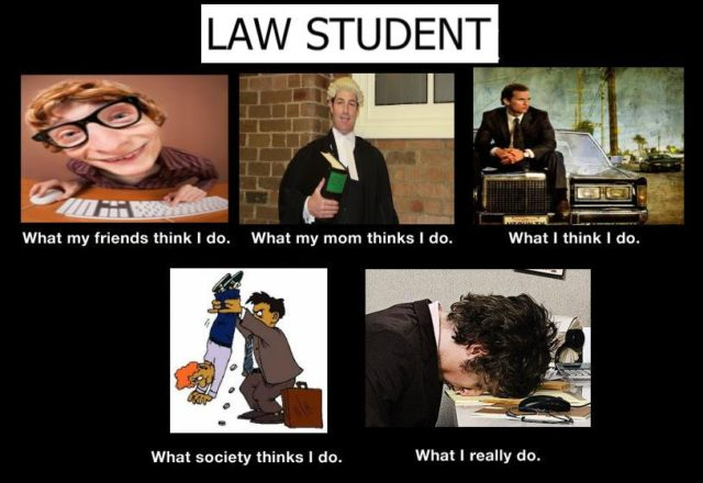 Life of a law student.