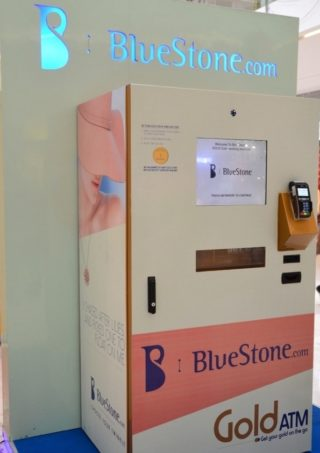 Bluestone's ATM Machine that dispenses gold coins