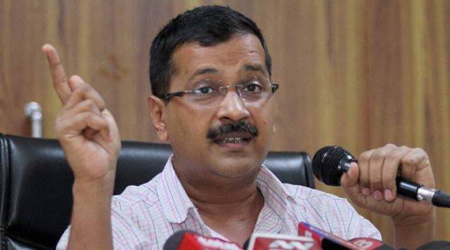 New Delhi: Delhi CM Arvind Kejriwal speaks during a press conference at his residence in New Delhi on Saturday. PTI Photo(PTI10_8_2016_000163B)