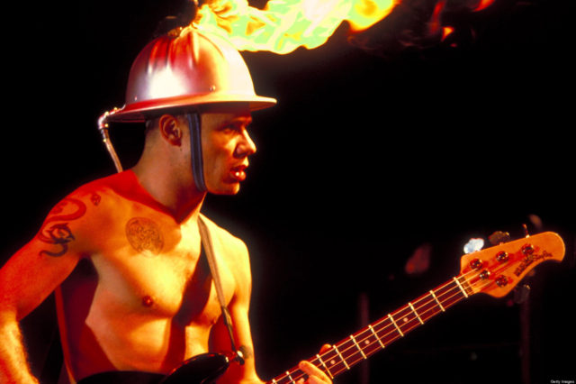 Flea of the Red Hot Chili Peppers at the Waterloo in Stanhope, New Jersey (Photo by Steve Eichner/WireImage)