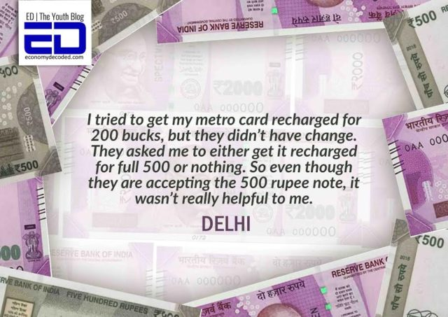 Delhi Local struggling at Metro station