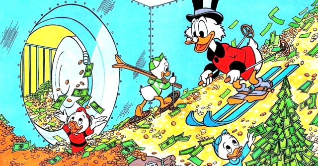 Uncle Scrooge and the triplets with Scrooge's fortune (DuckTales Reboot)