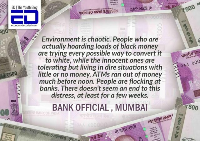 Bank official on currency ban