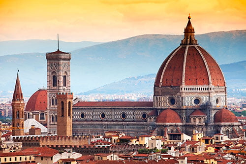 Florence domes that featured on the inspirational cities list