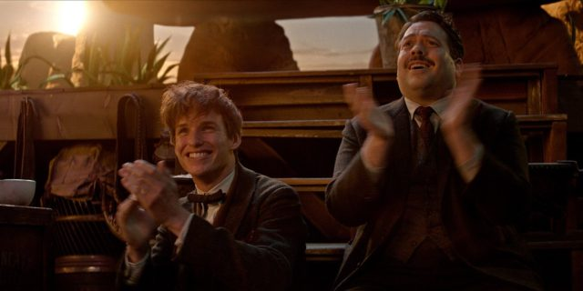 newt and jacob clapping