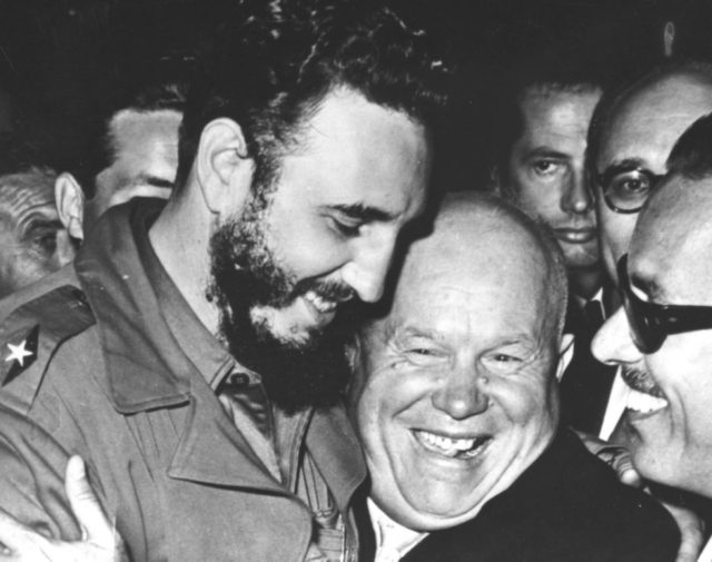 fidel castro nikita khrushchev united-nations 1960