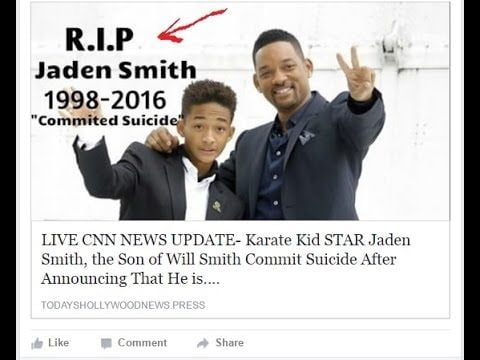 Jaden Smith was not dead