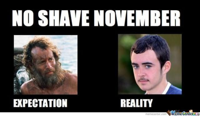 No Shave November memes that do rounds on internet.