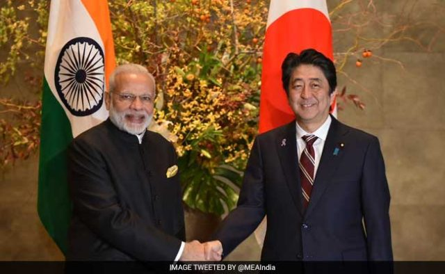 Modi doing accu pressure to Shinzo