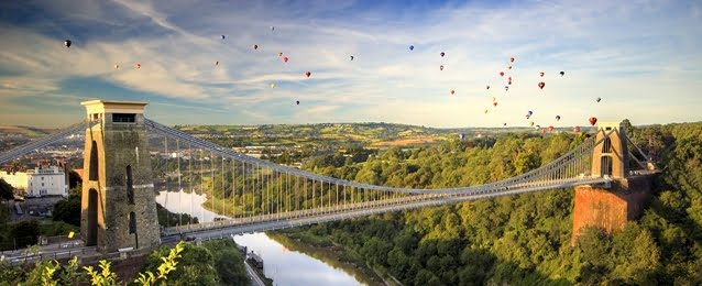 the bristol bridge. bristol ranked fourth on inspirational cities