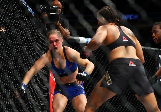 Ronda was knocked out by Amanda Nunes in just 48 seconds. Talk about domination.