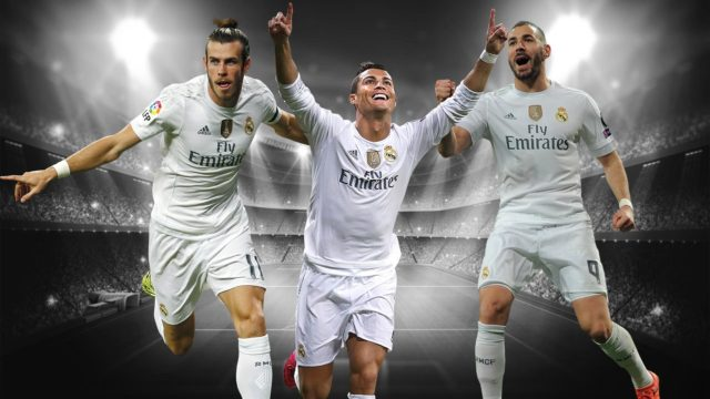 Bale (L), Ronaldo (C) and Benzema (R) are one of the best trios in history.