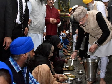 PM Modi at Golden Temple