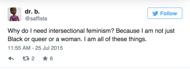 This is what intersectional feminism looks like.