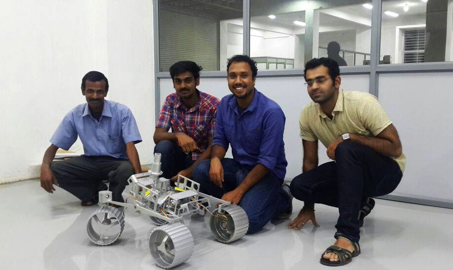 Google Lunar XPrize Winning TeamIndus with the rover WALL-E
