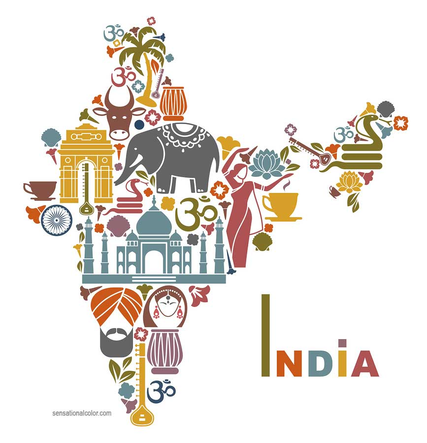 Depiction of cultural diversity in India