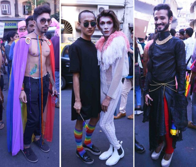 dressed up marchers at the queer azaadi pride parade