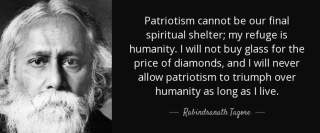 Tagore's view on patriotism