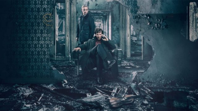 """The Final Problem"" poster, featuring Sherlock Holmes and John Watson."