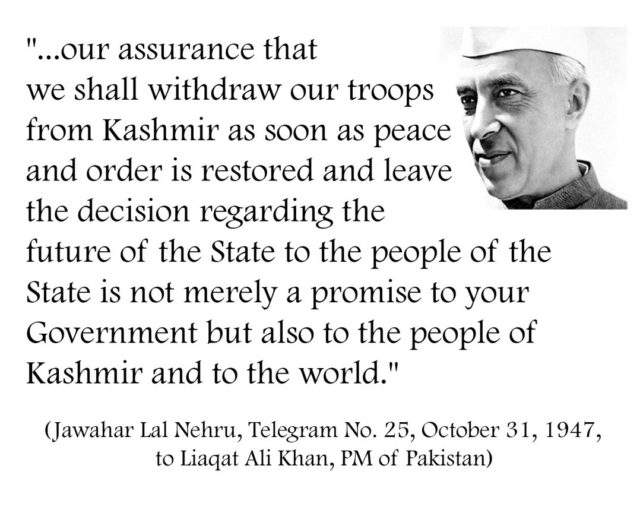 's Pledge to Kashmiris